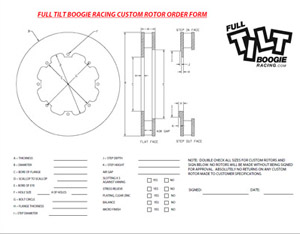 Custom 2pc Bolt Together Rotor Ring Order Form