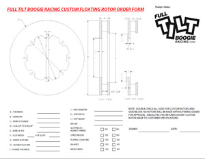 Custom Floating Rotor Ring Order Form