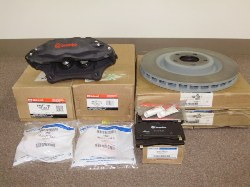 S-197 Front Brembo Calipers, Rotors Pads and Hardware Kit