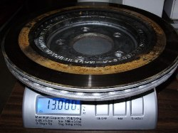 S-197 Rear OEM rotor weight