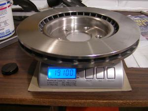 SN-95 OEM Brembo Rotor Weight - 19.1 lbs