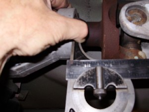 MEASURING FRONT PINION ANGLE